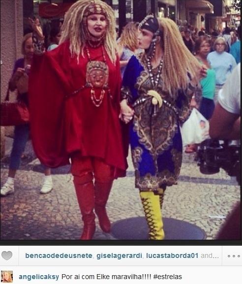 09.set.2013- Angélica se veste de Elke Maravilha em gravação do