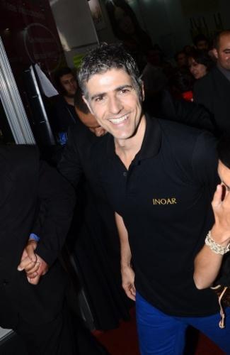9.set.2013 - Ator Reynaldo Gianecchini participa de evento em feira de beleza, na cidade de São Paulo