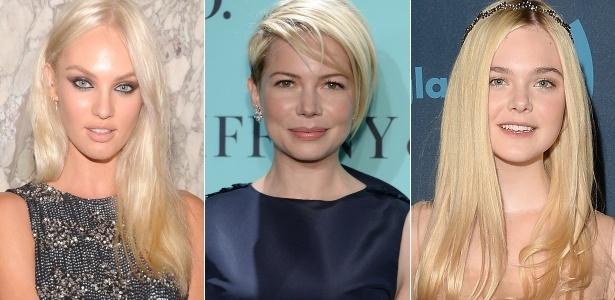 Candice Swanepoel, Michelle Williams e Elle Fanning já desfilam o loiro-desejo