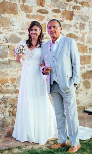 11.set.2013 - Filha de Galvão Bueno durante casamento na Toscana