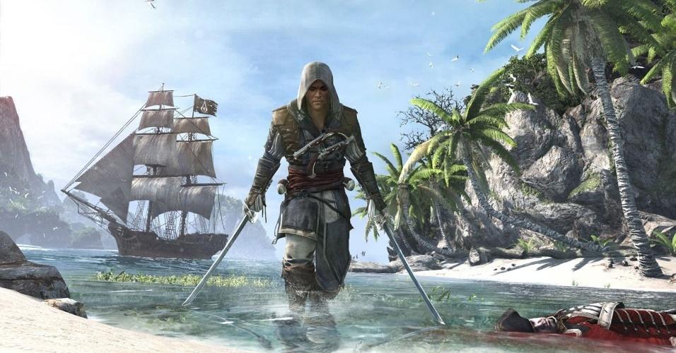 """""""Assassin's Creed IV: Black Flag"""" retratará conflito entre templários e assassinos sob a perspectiva de piratas"""