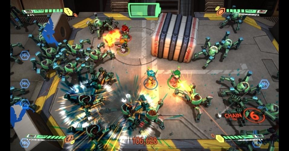 """""""Assault Android Cactus"""" traz batalhas em arenas para até 4 jogadores"""