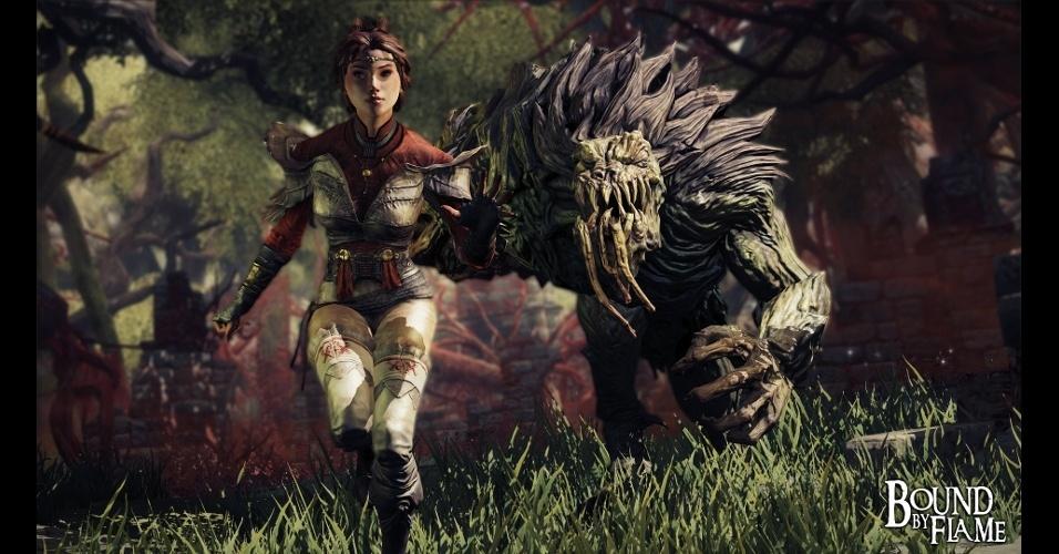 """""""Bound by Flame"""" é um RPG de ação em que você joga como um demônio mercenário"""