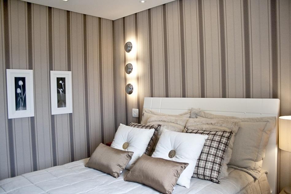 Meu quarto de cara nova Quartos de casais com papel de  ~ Quartos Decorados Com Papel De Parede Preto E Branco