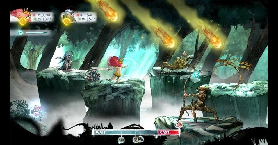 """Da Ubisoft, """"Child of Light"""" traz batalhas em turnos inspiradas nos RPGs japoneses"""
