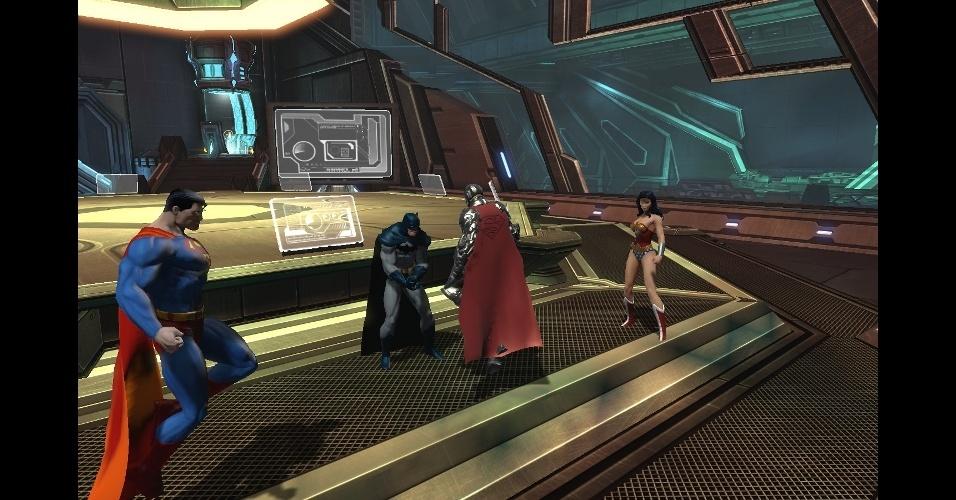"""""""DC Universe Online"""" é um MMO gratuito que traz os heróis e vilões da DC"""