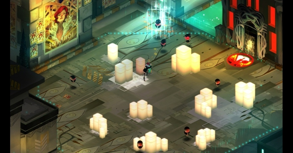"""Em """"Transistor"""" você assume o controle de uma jovem que ganha o controle de uma arma de origem desconhecida"""