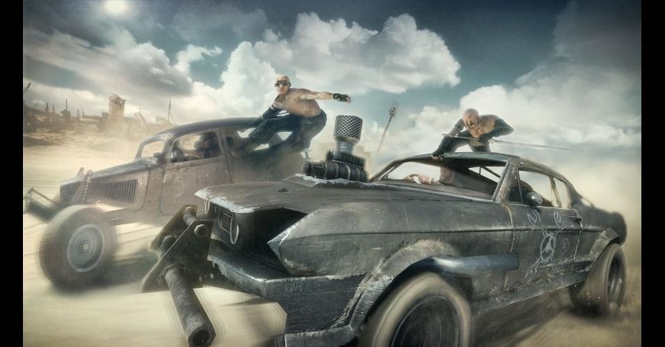"""""""Mad Max"""" traz um mundo aberto e batalhas entre carros"""