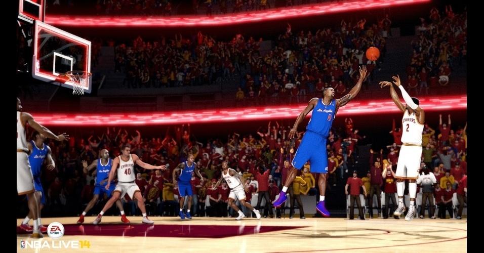 """""""NBA Live 14"""" traz de volta a franquia da EA Sports, apenas para a nova geração de consoles"""