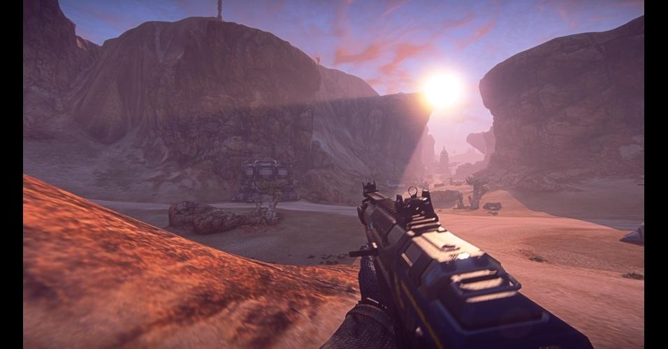 """""""PlanetSide 2"""" é um MMO de tiro em primeira pessoa gratuito e que se passa em um mundo massivo e persistente"""