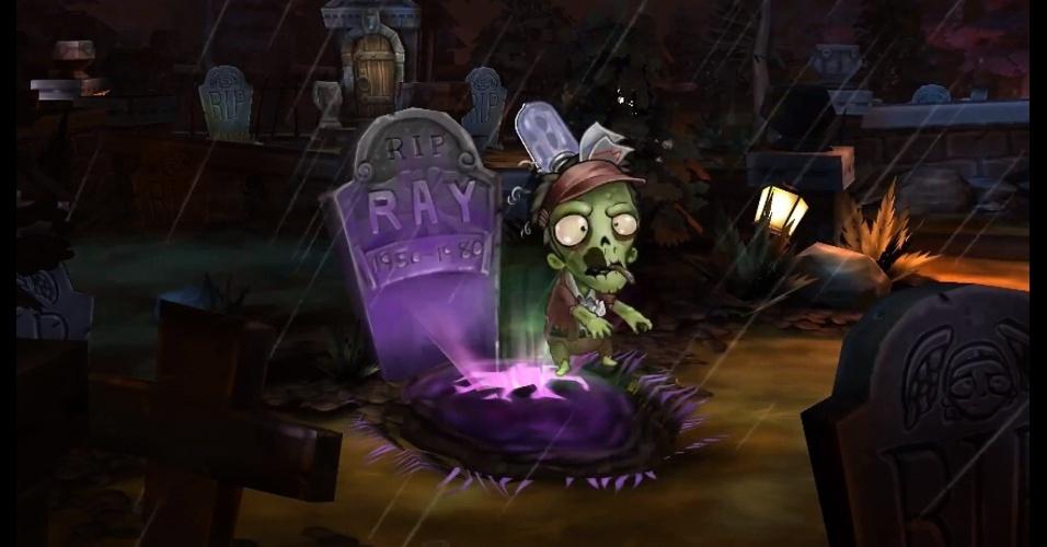 """""""Ray's The Dead"""" você controla um exército de zumbis para vingar a sua morte"""