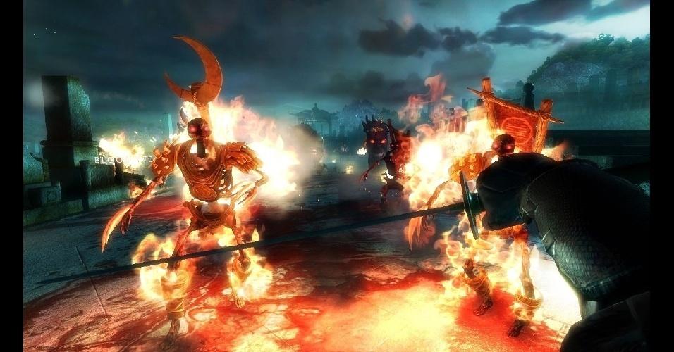 """""""Shadow Warrior"""" traz humor e ação em jogo de tiro (e espadas) em primeira pessoa"""