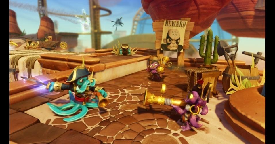 """""""Skylanders: Swap Force"""" é novo jogo da franquia de sucesso e permite diferentes combinações entre bonecos"""