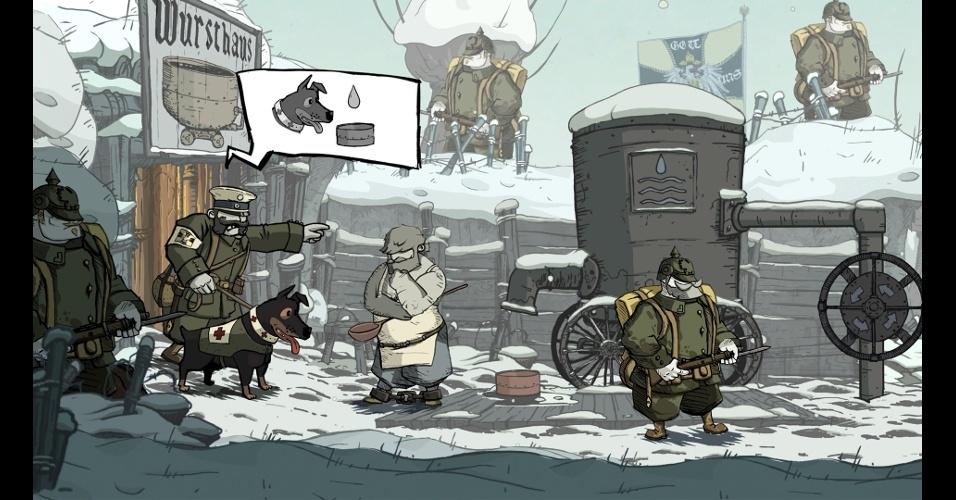 """Valiant Hearts: The Great War"" conta a história de 5 personagens que se cruzam durante a Primeira Guerra Mundial"