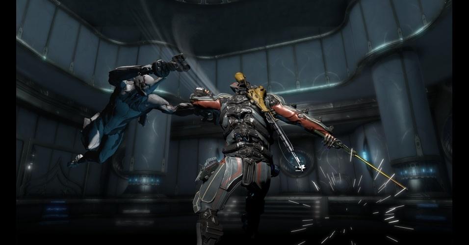 """""""Warframe"""" é um jogo gratuito de ação e tiro em terceira pessoa"""
