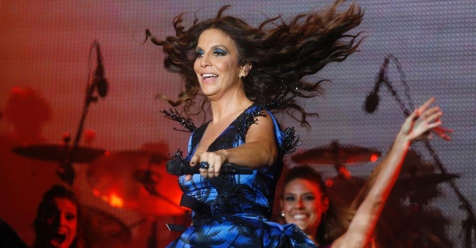 13.set.2013 - A cantora Ivete Sangalo durante apresentação no Palco Mundo do Rock in Rio