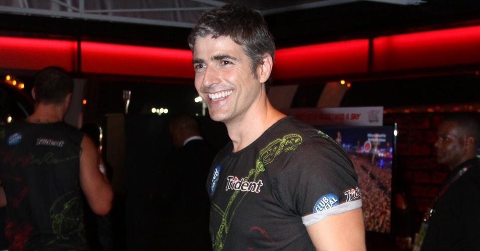 13.set.2013 - Gianecchini circula em camarote do Rock in Rio