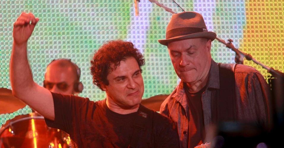13.set.2013 - O cantor Roberto Frejat, do Barão Vermelho, durante tributo a Cazuza no Rock in Rio