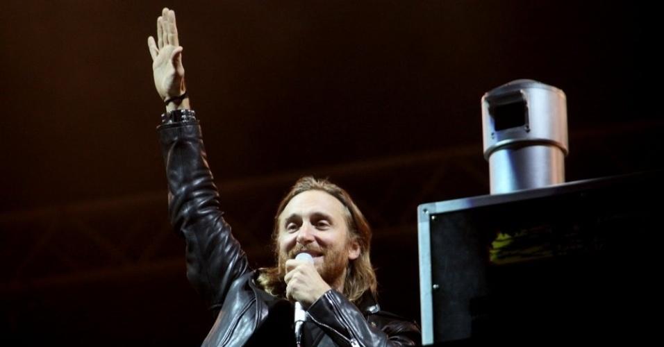 13.set.2013 - O DJ David Guetta durante apresentação no Palco Mundo do Rock in Rio