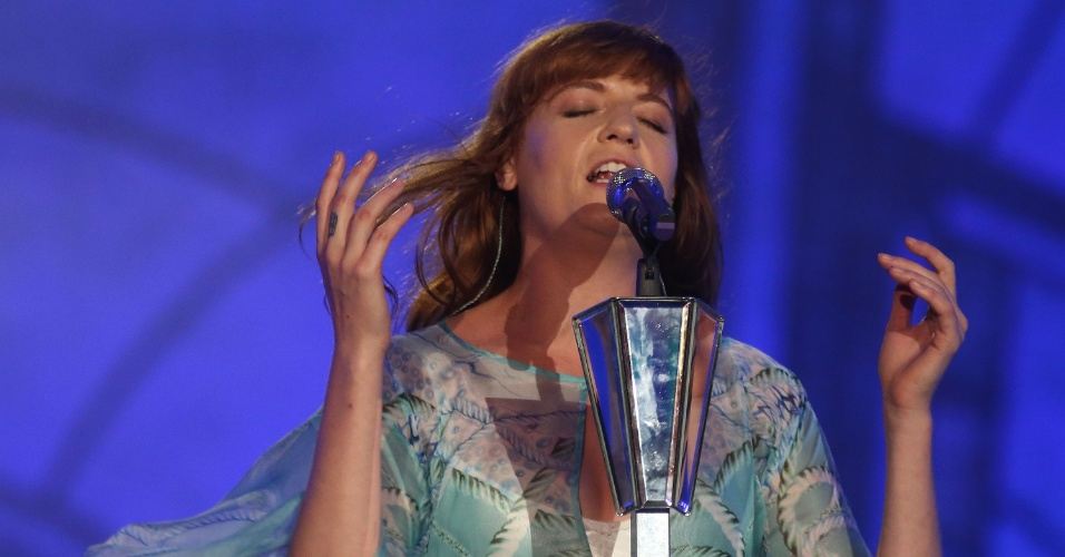 14.set.2013 - Florence And The Machine se apresenta no Palco Mundo do Rock in Rio