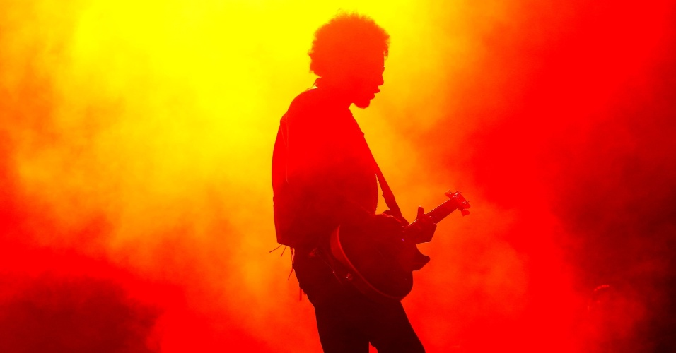 19.set.2013 - O vocalista William DuVall, do Alice in Chains, durante show da banda no Palco Mundo do Rock in Rio