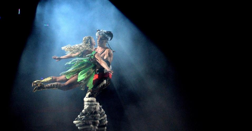 """19.set.2013 - Artistas do Circo Nacional da Ucrânia apresentam o novo show da companhia, """"Caravana das Maravilhas"""""""