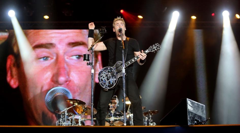 20.set.2013 - Nickelback se apresenta no Palco Mundo do Rock in Rio