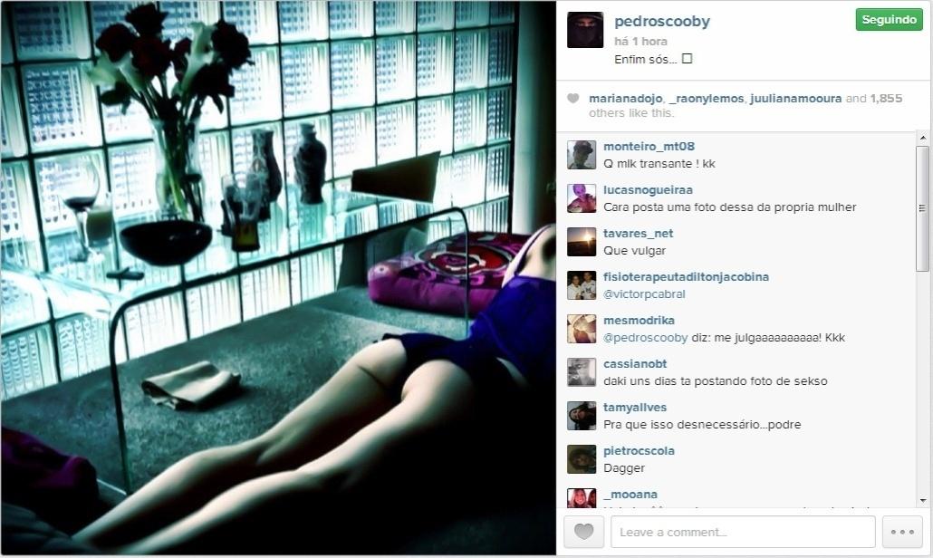 Pedro Scooby publica foto do bumbum de Luana Piovani e comemora momento a sós