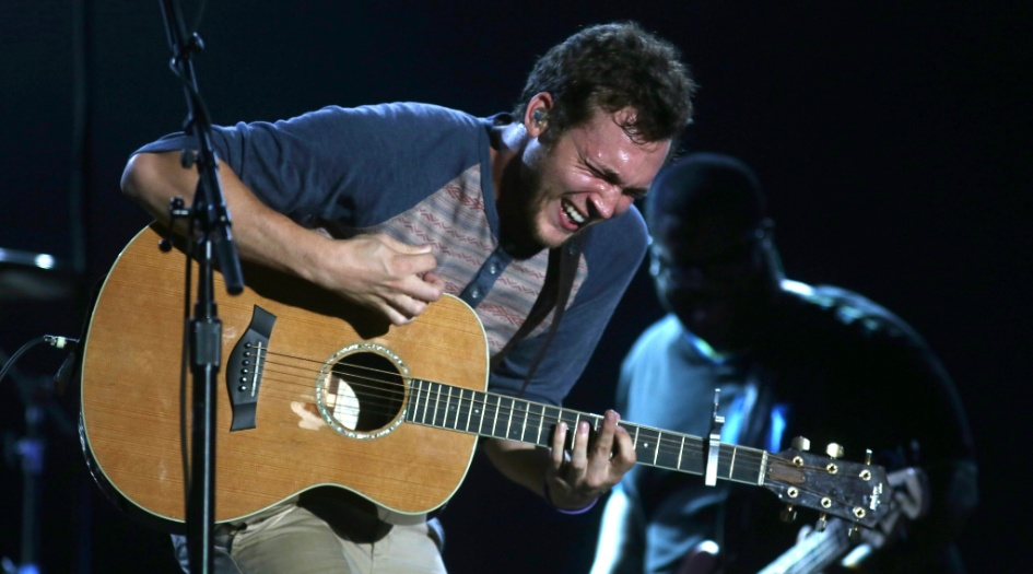 21.set.2013 - O cantor Phillip Phillips se apresenta no Palco Mundo do Rock in Rio
