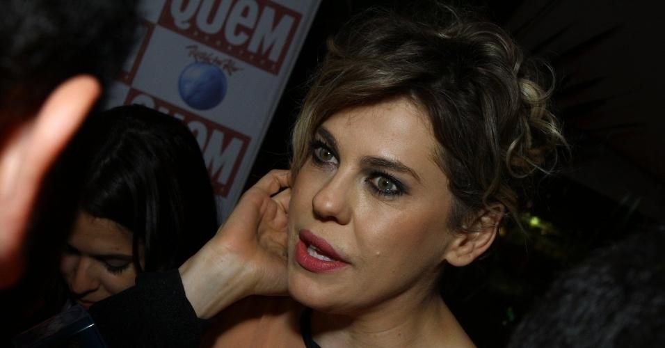 22.set.2013 - Bárbara Paz vai ao último dia de Rock in Rio e comenta lista de