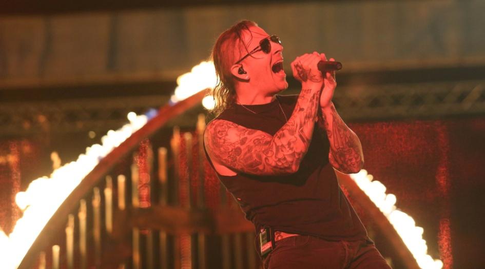 22.set.2013 - Avenged Sevenfold faz o penúltimo show do Rock in Rio 2013 no Palco Mundo