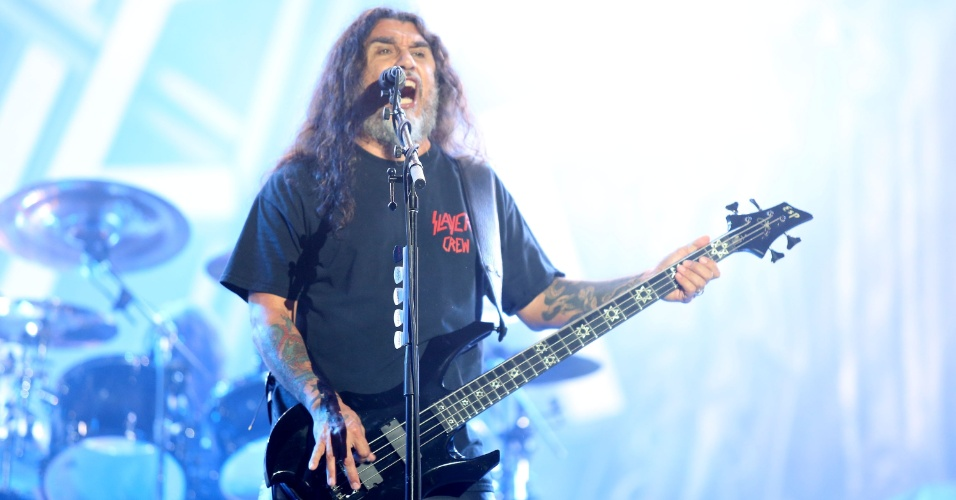 22.set.2013 - Slayer se apresenta no Palco Mundo do festival