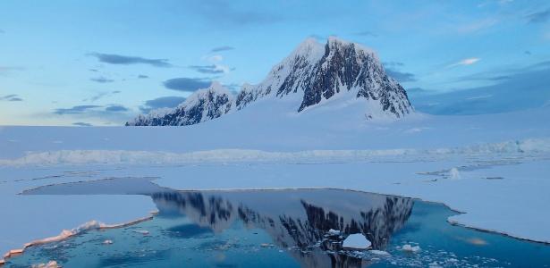A temperatura da água na Antártida pode chegar a -2ºC