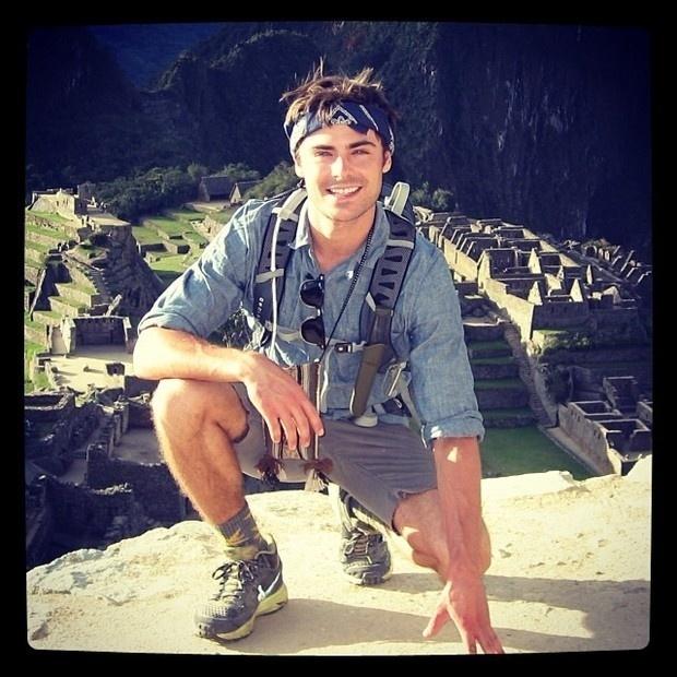 27.set.2013 - Zac Efron compartilhou com seus fãs um registro de sua recente viagem ao Peru