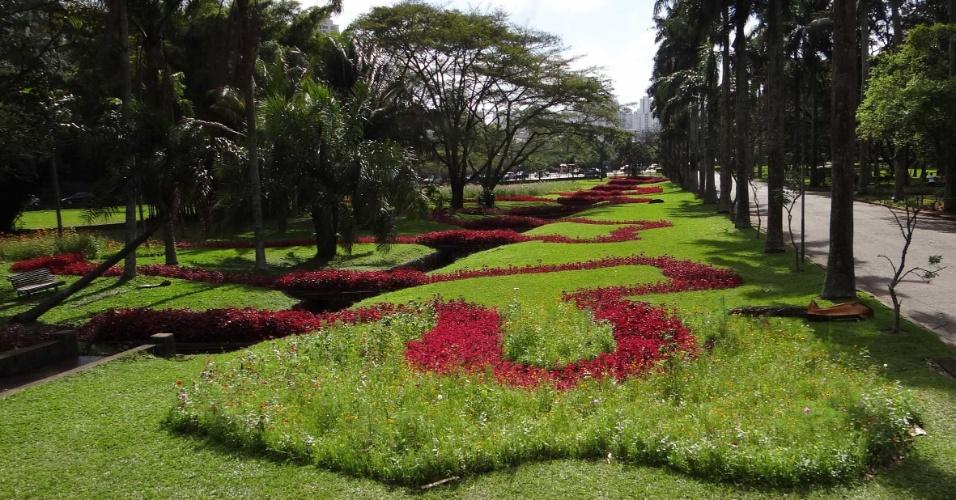 """Obra """"O Caminho do Rio"""", de Jean Paul Ganem, no Jardim Botânico de São Paulo"""