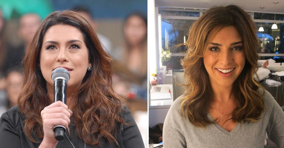 Setembro - A atriz Fernanda Paes Leme decidiu renovar o visual e entregou seus fios ao cabeleireiro paulistano Marcos Proença.