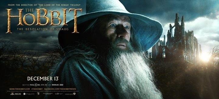 """Novo cartaz de """"O Hobbit: A Desolação de Smaug"""" divulgado no Facebook pelo diretor Peter Jackson"""