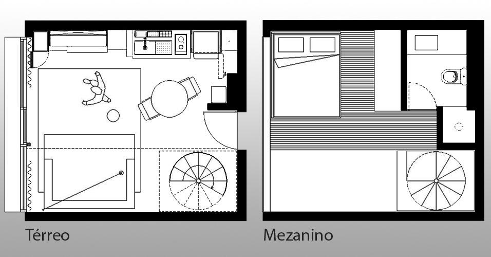 Jogo Do Quarto Vermelho Crimson Room ~ planta do ap 1211 do arquiteto alan chu revela estrutura de mezanino