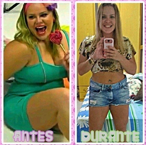 7.out.2013 - Ex-BBB Paulinha mostra foto com 27 quilos a menos