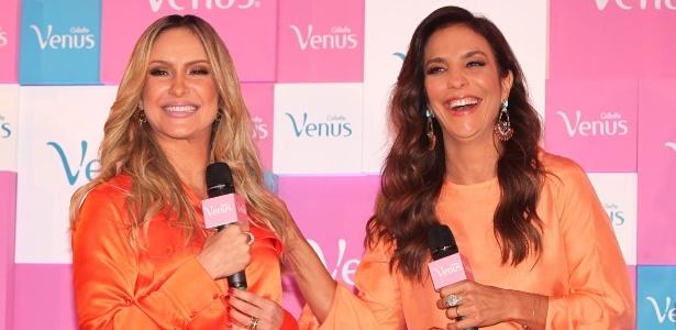 Claudia Leitte e Ivete Sangalo em lançamento de campanha publicitária