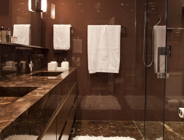 Apê charmoso  BOL Fotos -> Banheiro Com Pastilha Marrom