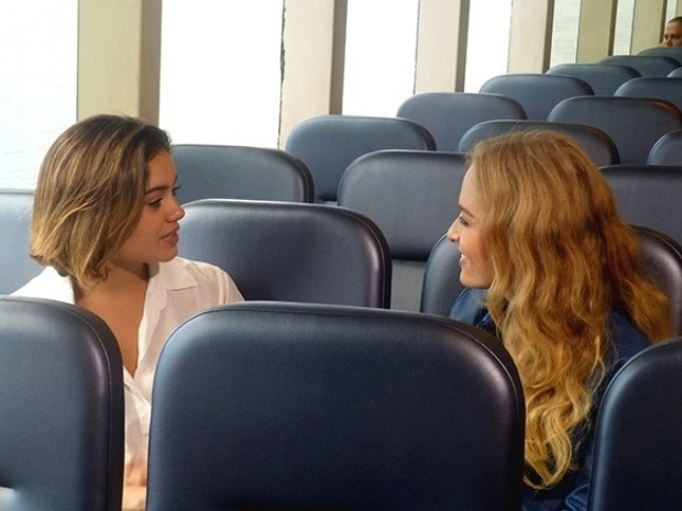 Sophie Charlotte e Angélica durante entrevista ao programa