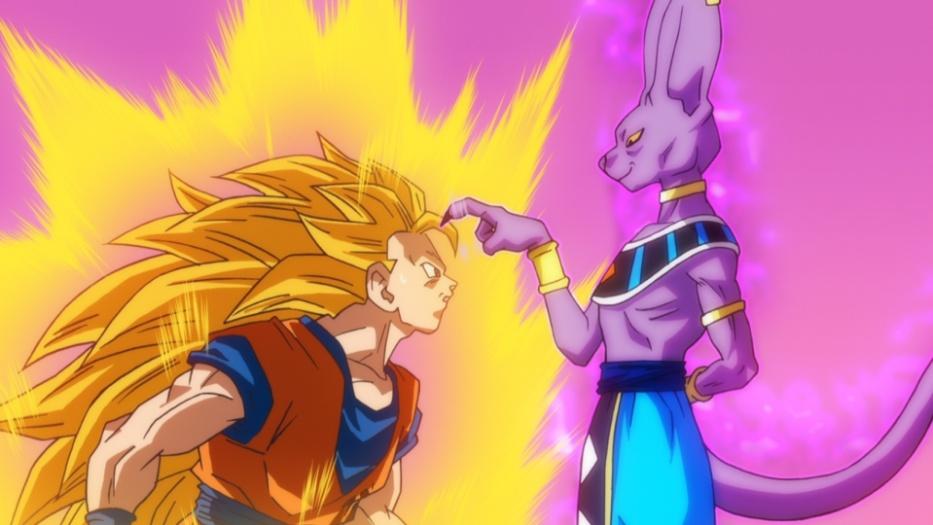 "Cena de ""Dragon Ball Z: A Batalha dos Deuses"", de Masahiro Hosoda"
