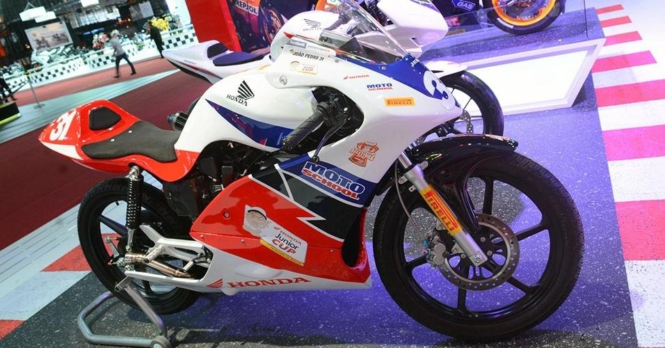 Motocicleta utilizada pelos pilotos da Honda Junior Cup
