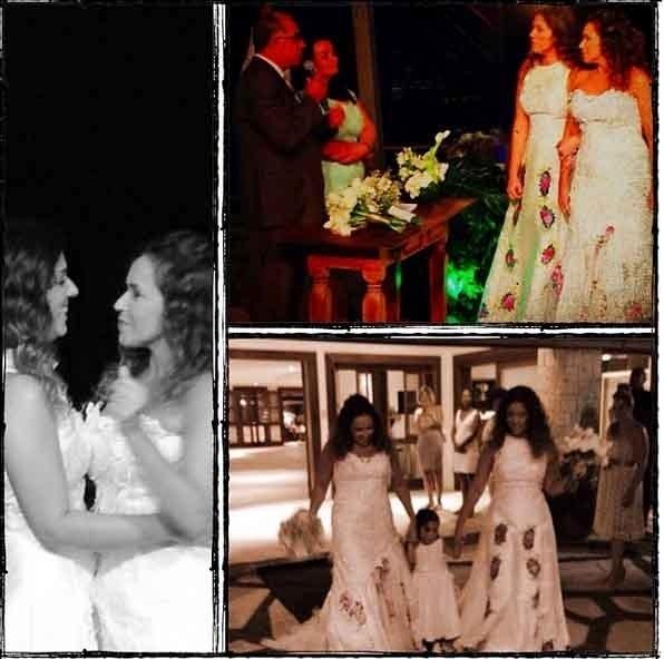 13.out.2013 - Um dia depois do casamento com Daniela Mercury, a jornalista Malu Verçosa postou fotos da cerimônia no Instagram:
