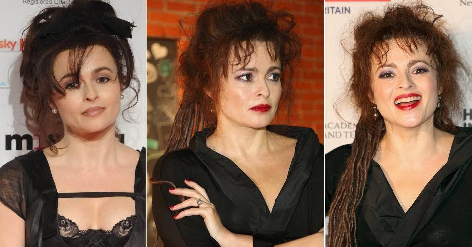 Outubro - A atriz Helena Bonham Carter compareceu à noite de estreia do The 21st Annual Hamptons International Film Festival (12), em Nova York, com visual novo: ela agora usa dreadlocks