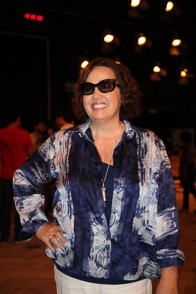 15.out.2013 - Claudia Jimenez posa para fotos na apresentação da nova novela das sete,