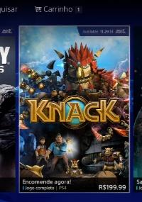 """Página dos jogos de PS4 na PS Store nacional mostra """"Knack"""" por R$ 199,99"""