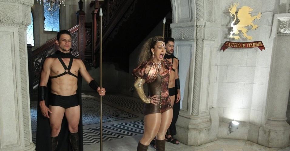 17.out.2013 - Valesca Popozuda grava clipe da música