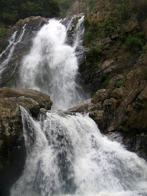 Quedas da Cachoeira dos Rolinhos na Serra da Canastra, em Minas Gerais